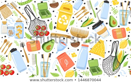 White Plastic Combs Seamless Pattern Stock photo © Valeo5