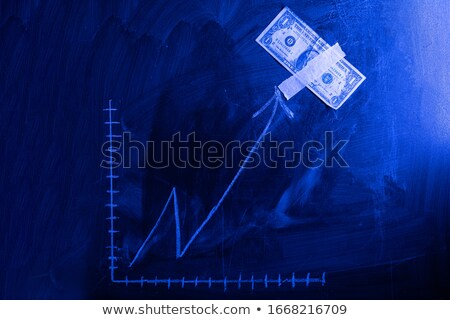 Green Chalkboard with Hand Drawn Profit Growth. Stock photo © tashatuvango