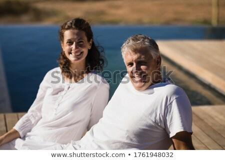 Portret szczęśliwy para relaks deska Zdjęcia stock © wavebreak_media