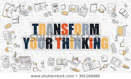 Transform Your Thinking Concept with Doodle Design Icons. Stock photo © tashatuvango