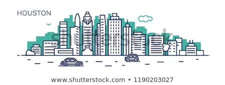 Skyline · Houston · detaillierte · Illustration · Texas · Stadt - stock foto © yuriy