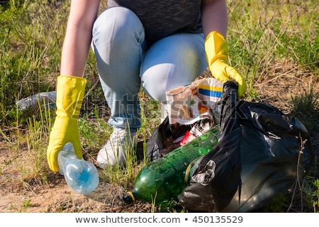 女性 ごみ 森林 リサイクル ストックフォト © RAStudio