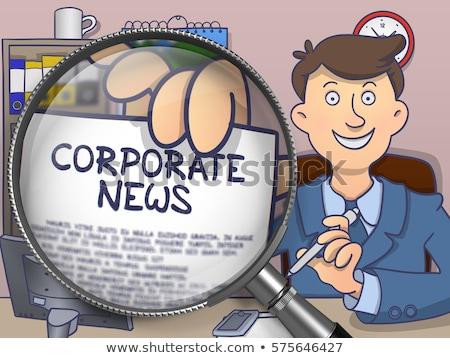 Vállalati irányvonal lencse firka stílus üzletember Stock fotó © tashatuvango