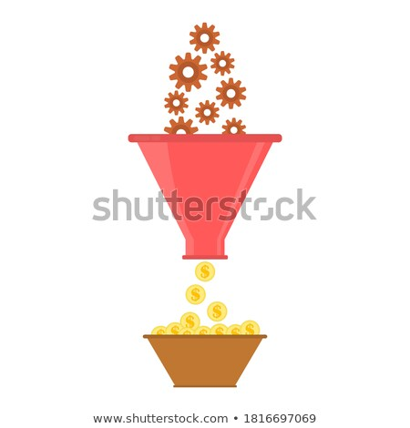Conversion Marketing Concept. Golden Cog Gears. Stock photo © tashatuvango