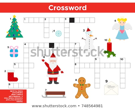 find the word  snow  Christmas game  Stock photo © Olena
