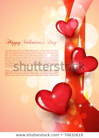 Stylish Hearts And Wave Background For Valentines Day Stockfoto © PinnacleAnimates