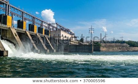Hydroelectric Power Dam Generating Electricity Stock photo © Krisdog