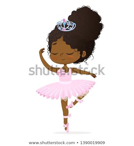 Nino nina princesa ilustración pequeño Foto stock © lenm