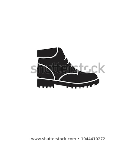 Vector hiking boot icon in black and white Stock photo © adrian_n