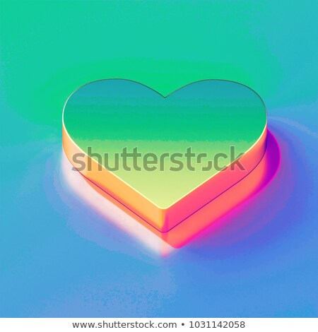 One cute red heart isolated icon Stock photo © studioworkstock