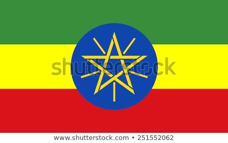 Ethiopia flag, vector illustration Stock photo © butenkow