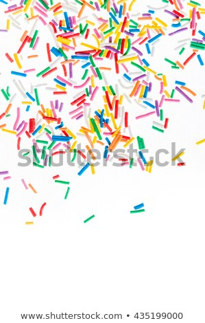 chocolate sprinkles on white background. frame Stock photo © joannawnuk