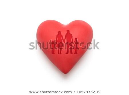 赤 中心 家族 白 ストックフォト © sqback