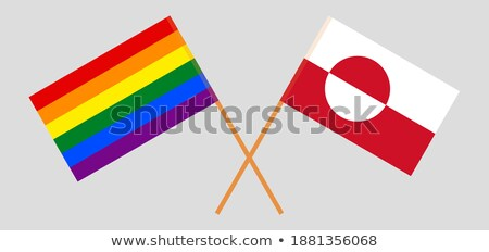 Greenland LGBT flag. Greenlandic Symbol of tolerant. Gay sign ra Stock photo © popaukropa