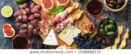 close up of food in plate by drinking glass stock photo © wavebreak_media