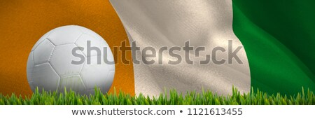 Grass growing outdoors against ivory coast national flag Stock photo © wavebreak_media