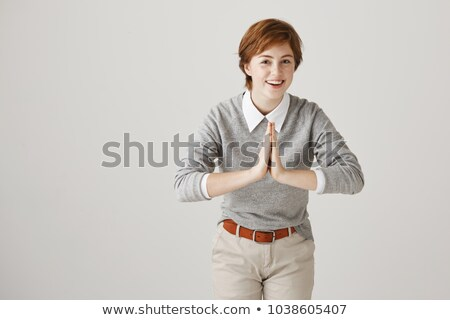 Stock photo: Attractive Woman Bending Towards The Camera