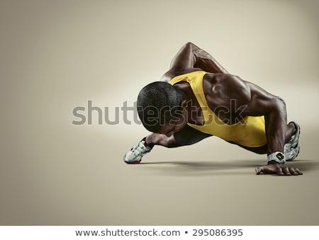 男 · 女性 · フィットネス · 屋外 · ジム · スポーツ - ストックフォト © kzenon