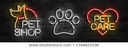Pet Grooming Neon Sign Illustration Stock photo © artisticco