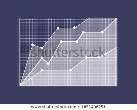 Stockfoto: Grafische · groei · presentatie · vooruitgang · grafiek