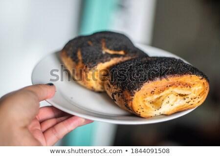Comida fundo pão jantar café da manhã sobremesa Foto stock © bdspn