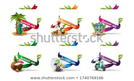 Special Summer Offer Sticker with Palm Leaves Stock photo © robuart