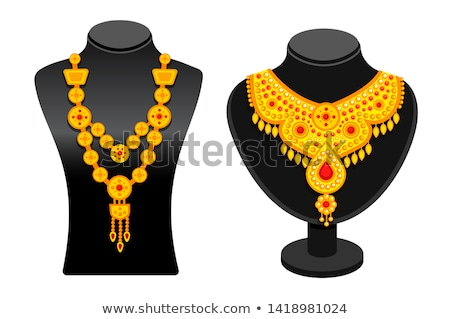 Jewelry Necklace Precious Topaz Stone on Mannequin Stock photo © robuart
