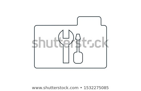 Folder Icon tools or settings in trendy flat style isolated on white background, for your web site d stock photo © kyryloff