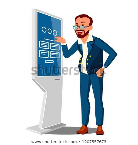 человека · наличных · атм · деньги · компьютер · дизайна - Сток-фото © pikepicture