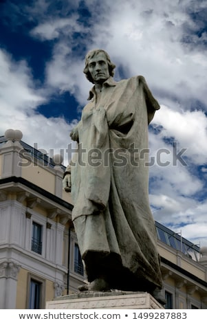 Monument to writer and poet Giuseppe Parini in Milan Stock photo © boggy