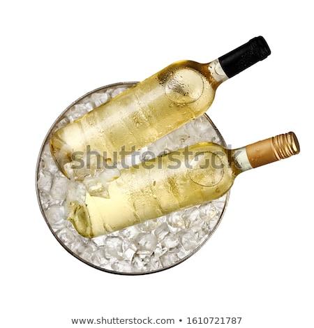 Ghiacciato vino secchio illustrazione bottiglia piatto Foto d'archivio © adrenalina
