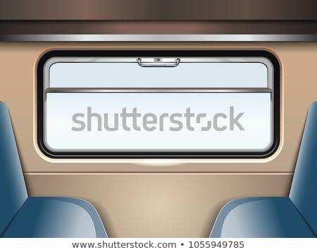 Fenêtre train compartiment isolé blanche chambre Photo stock © konturvid