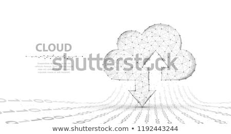 Cloud Data Upload Icon, vector illustration isolated on white background. Stock photo © kyryloff