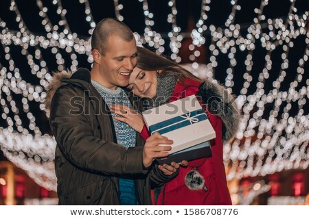 beautiful night before christmas   holiday gift for her stock photo © anneleven