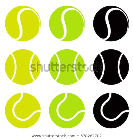 tennis ball set icon vector stock photo © blaskorizov