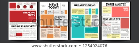 Newspaper Cover Set Vector. With Headline, Images, Page Articles. Newsprint, Reportage Information.  Stock photo © pikepicture
