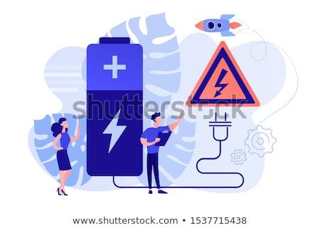 安全 バッテリー エンジニア 安全 プラグイン ストックフォト © RAStudio
