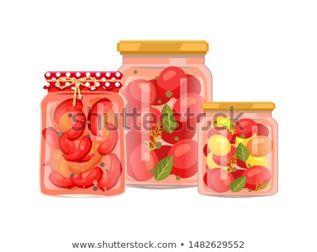 Vegetable Foodstaff Granny Preparations Poster Stock photo © robuart