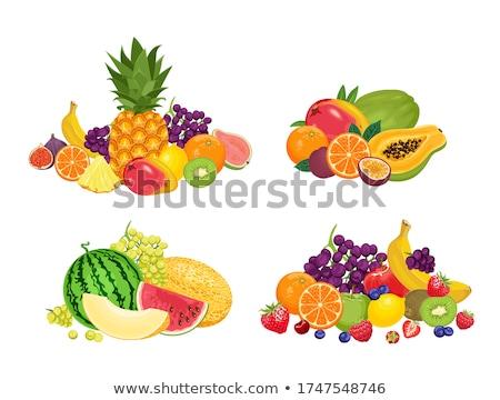 Tropical frutas bandeira exótico comida folhas Foto stock © robuart