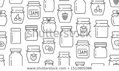Preserved Fruit in Glass Jars Vector Illustration Stock photo © robuart