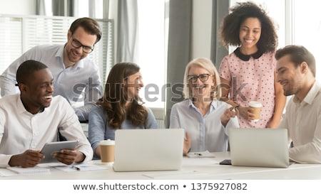 peinzend · zakenman · vergadering · kantoor · knap - stockfoto © dolgachov