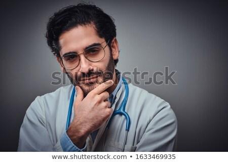 скептический мужской доктор медицина здоровья комического Cartoon Сток-фото © rogistok