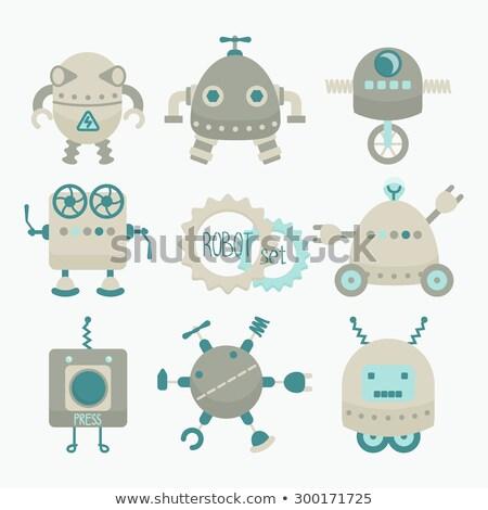 rajz · kicsi · robot · művészet · retro · rajz - stock fotó © cthoman