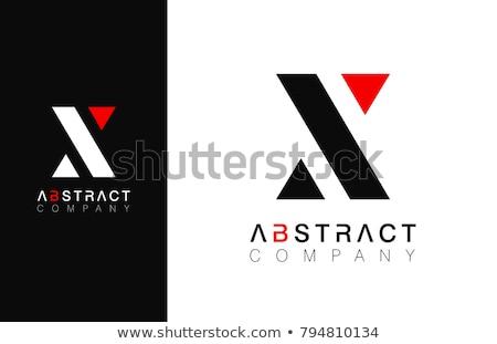 Brief logo Rood zwarte icon teken Stockfoto © blaskorizov
