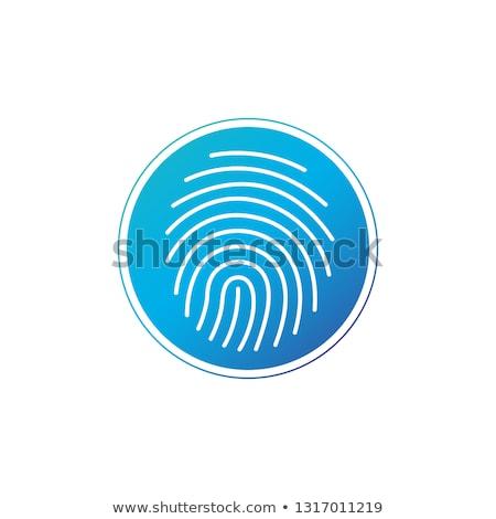 Aláírás ikon kör biztonság arculat ujjlenyomat Stock fotó © kyryloff