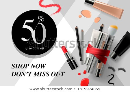 Trendy cosmetic products ads streamers. Modern design vector illustration concept for website and mo Stock photo © ikopylov