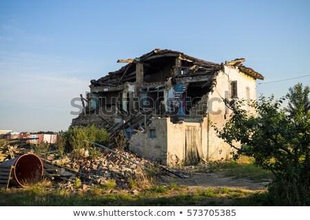 Pedra casa ruínas deserto velho Foto stock © lovleah