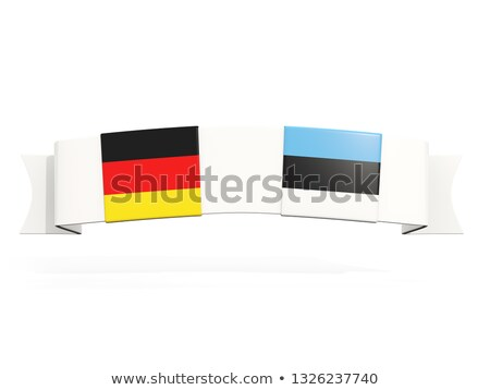Banner with two square flags of Germany and estonia Stock photo © MikhailMishchenko