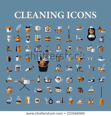 国内の · 洗浄 · アイコン · ベクトル · 緑 - ストックフォト © pikepicture