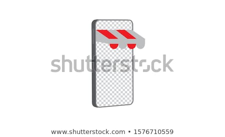 Mobile based marketplace concept vector illustration. Stock photo © RAStudio